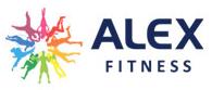 Логотип фитнес-клуба Alex-fitness